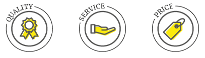 darling-romery-values-quality-service-price-icons